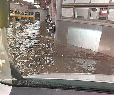 Poplava u novoj podzemnoj garaži u Šibeniku (foto Facebook)