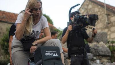 Dubravka Turić na snimanju Tragova (foto Duje Kundić)