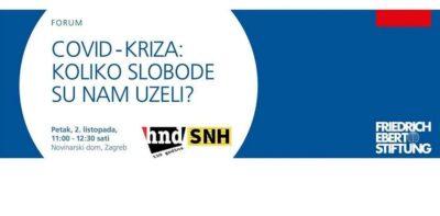 Forum u HND-u: COVID-kriza – Koliko slobode su nam uzeli?