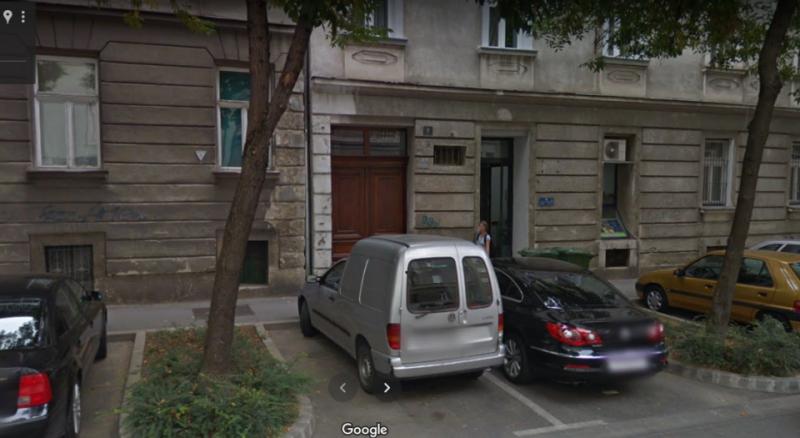 Tzv. Klub u Slovenskoj 9 u Zagrebu gdje se pilo, kartalo i jelo ostatke hrane itd. foto Gooogle maps)