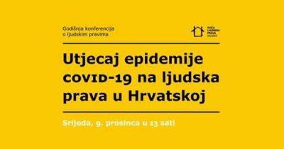 """Human Rights Film Festival i Kuća ljudskih prava: Tribina """"Utjecaj epidemije COVID-19 na ljudska prava u Hrvatskoj"""" danas u 13 sati uživo (na Facebooku)"""