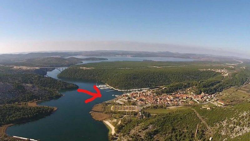 Mjesto planiranog pristaništa u Skradinu (foto Facebook)