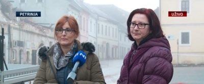 Jasna i Tanja u Petrinji (foto N1)