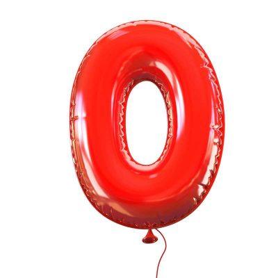 Ilustracija: balon u obliku broja nula