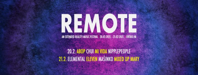 Remote – dvodnevni festival 'na daljinski': Virtualno uživo sviraju Chui, ABOP, Elemental, Mašinko, Nipplepeople…