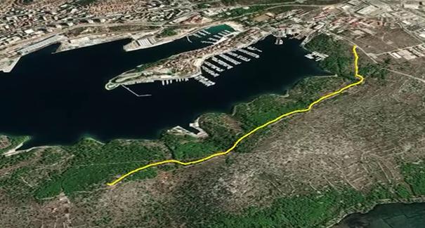 Shema trase buduće staze - foto Grad Šibenik