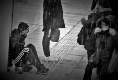 Ilustracija: na ulici, na snijegu (foto TRIS/G. Šimac)