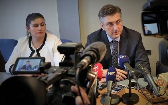 Arhiva, ilustracija: G. Žalac (HDZ) i A. Plenković (HDZ) - foto TRIS: