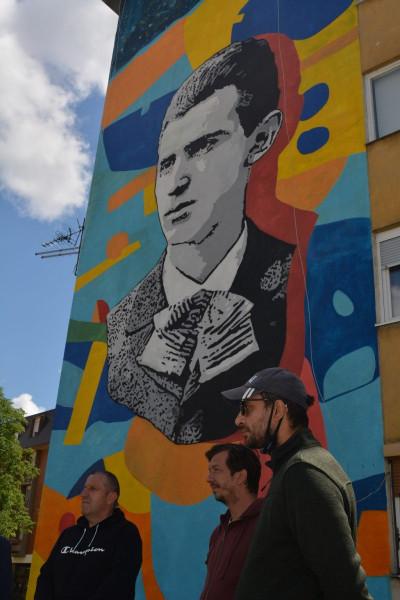Maturant Nikola Tesla dobio mural u Karlovcu
