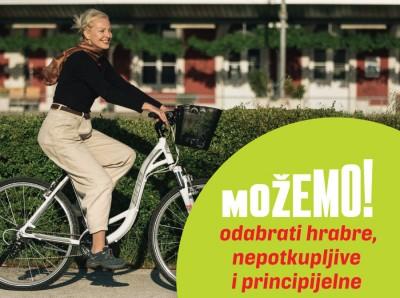 Dušica Radojčić iz Možemo! Pula na biciklu