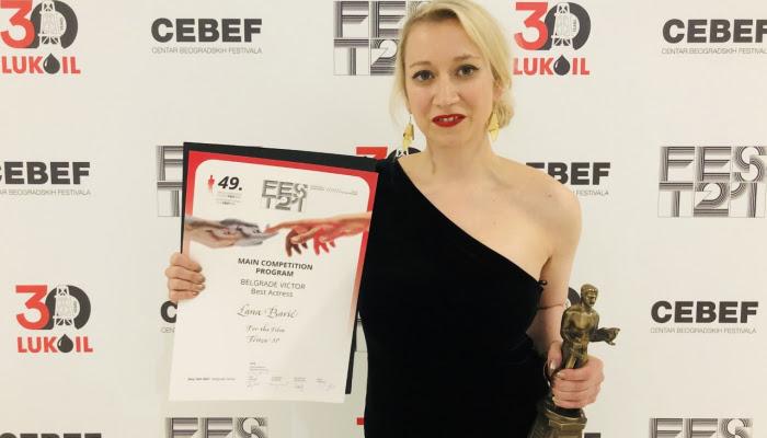 Lana Barić s nagradom