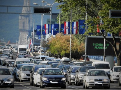 Prometna gužva u Zagrebu (foto TRIS/G. Šimac)