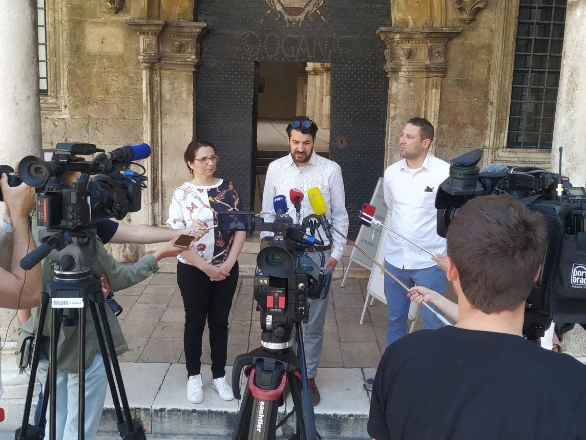 Ljeljak Gracin, Tomać i Ćerimagić u Dubrovniku