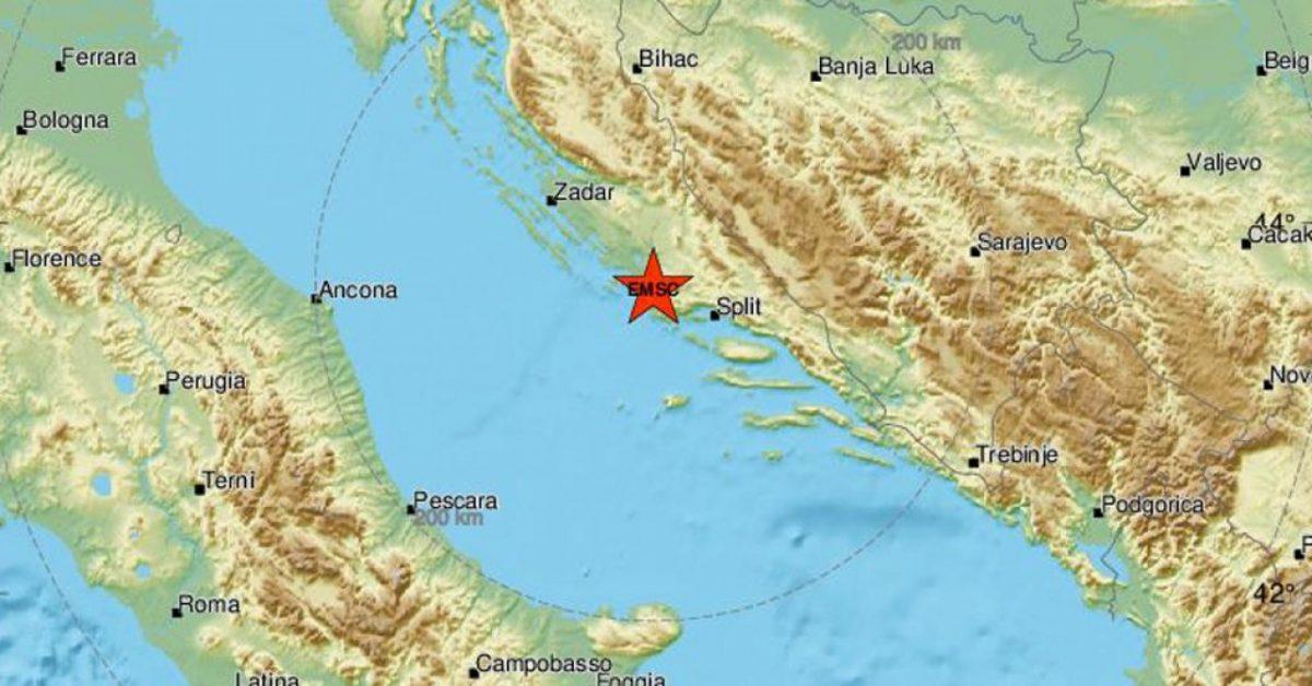Jak potres, 4,7 po Richteru, pogodio Šibenik i Dalmaciju
