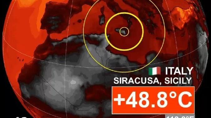 Vruća vijest: Na Siciliji izmjerena najviša europska temperatura otkad je mjerenja – 48,8 Celzijevih stupnjeva