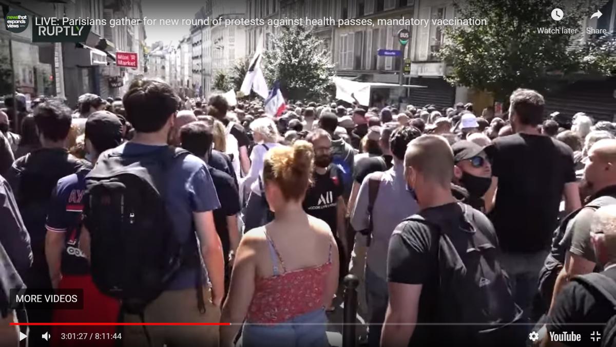 Prosvjedi: 200.000 Francuza na ulicama protiv koronamjera