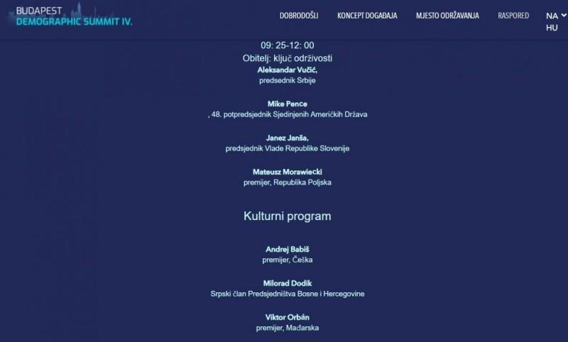 Budimpeštanski demografski summit: Klerokonzervativni dernek kojeg otvaraju Vučić, Janša, Pence, Orban i… Dodik (!)