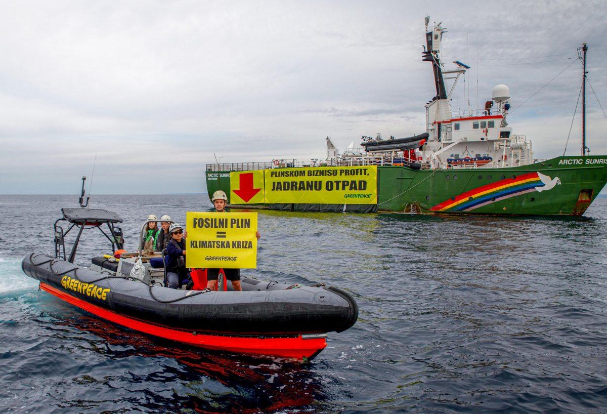 Greenpeace Hrvatska poručuje: Fosilni plin na LNG terminalu na Krku uvelike pridonosi klimatskoj krizi!